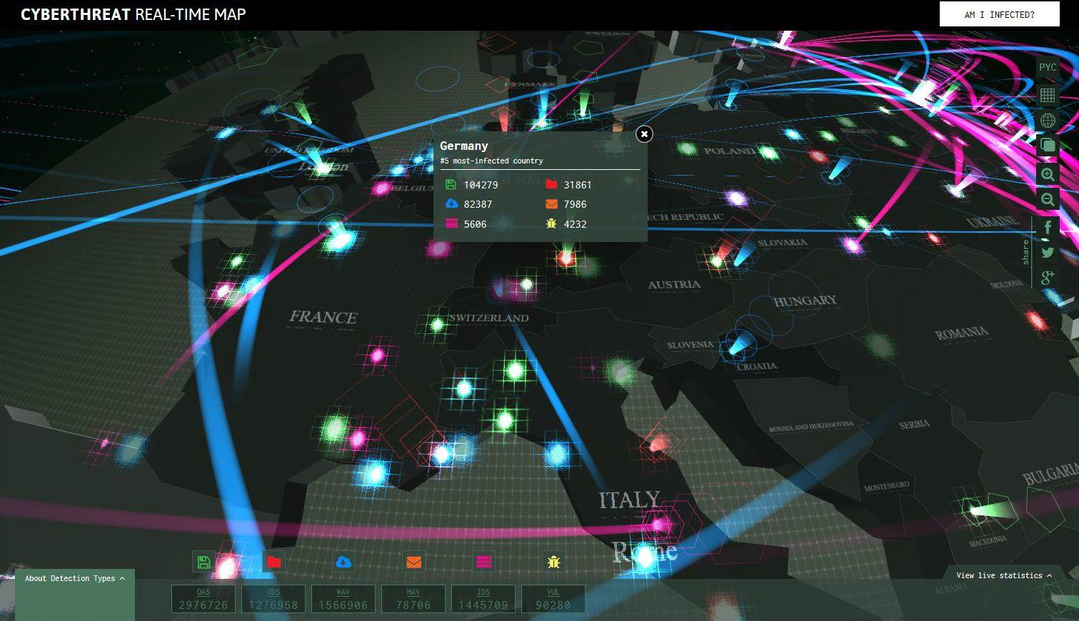 Mappa dei virus