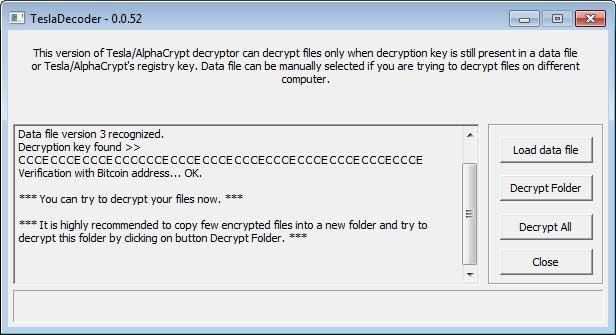 Recuperare i file criptati